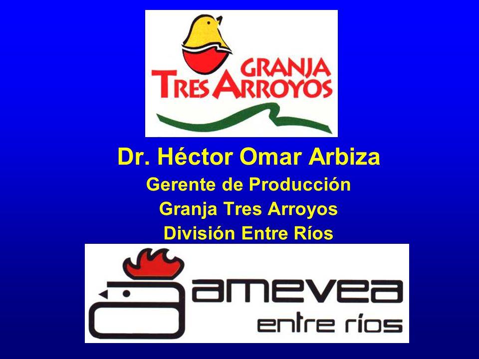 Dr. Héctor Omar Arbiza Gerente de Producción Granja Tres Arroyos