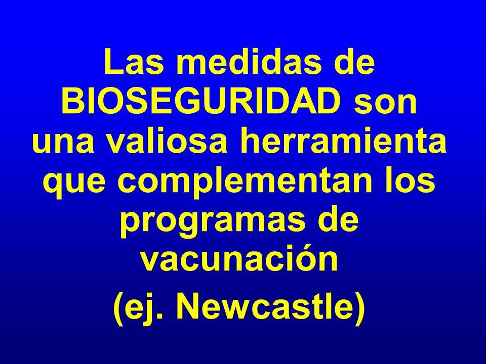 Las medidas de BIOSEGURIDAD son una valiosa herramienta que complementan los programas de vacunación