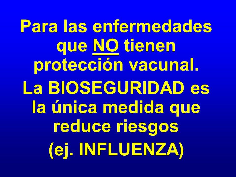 Para las enfermedades que NO tienen protección vacunal.