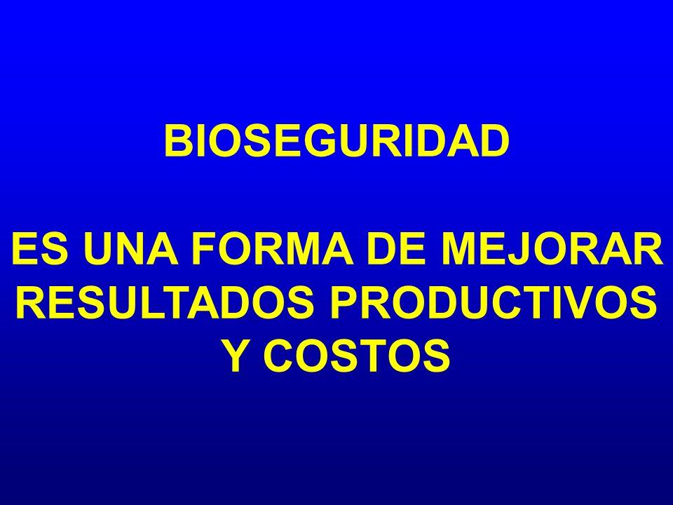 BIOSEGURIDAD ES UNA FORMA DE MEJORAR RESULTADOS PRODUCTIVOS Y COSTOS