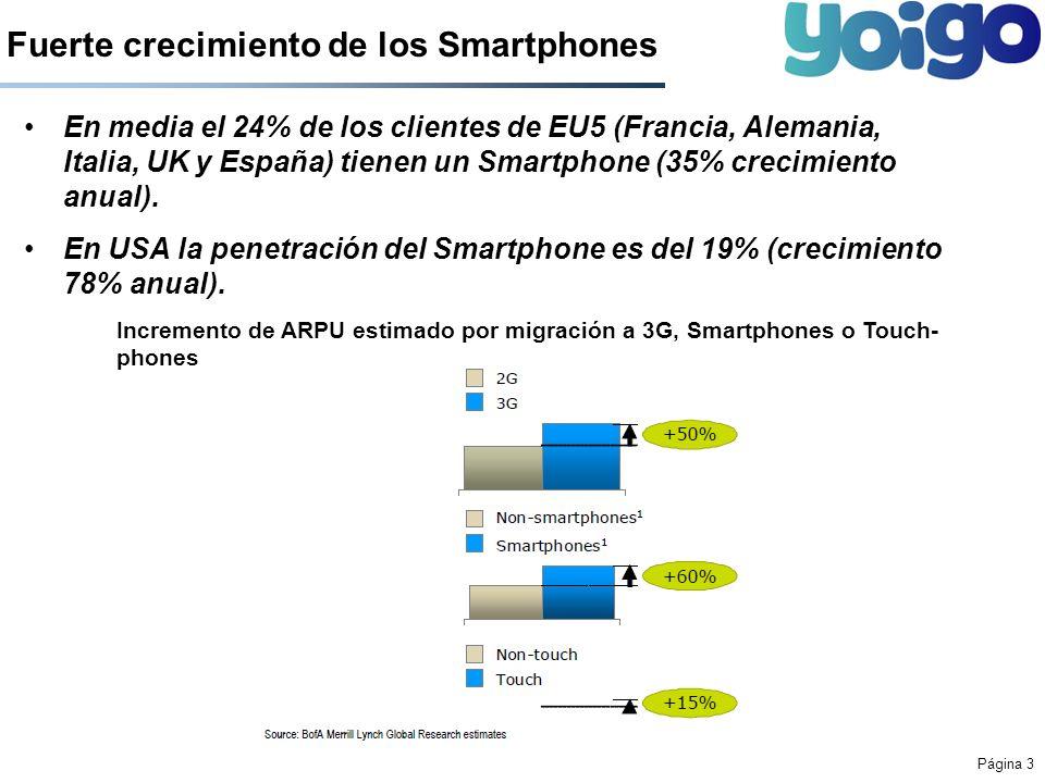 Fuerte crecimiento de los Smartphones
