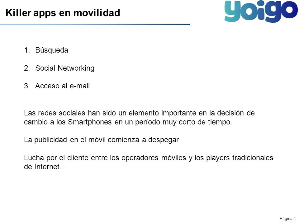 Killer apps en movilidad