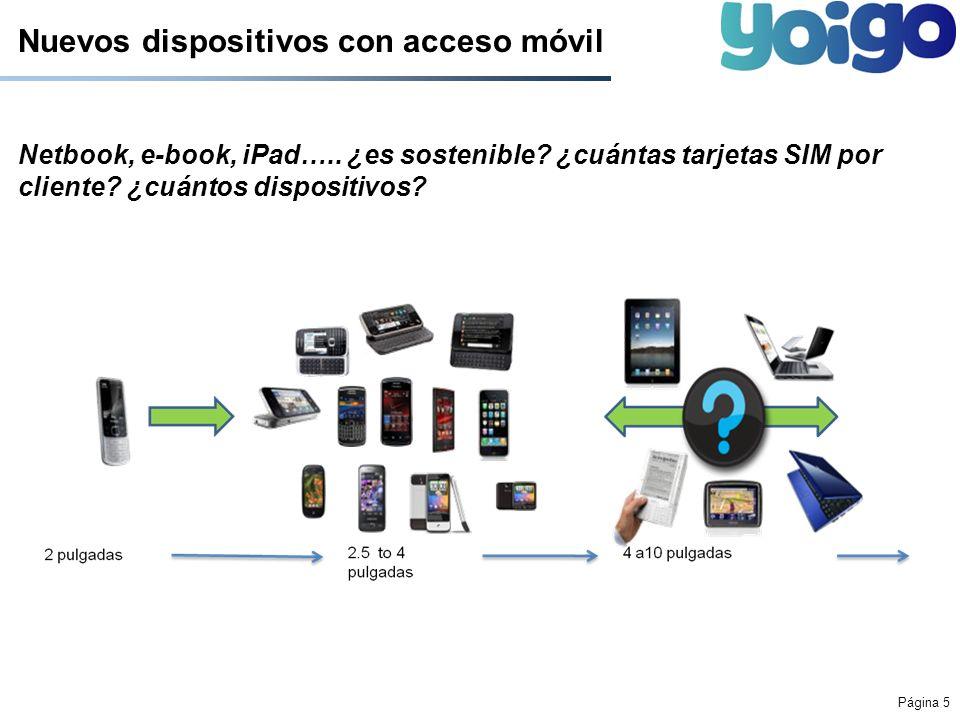 Nuevos dispositivos con acceso móvil
