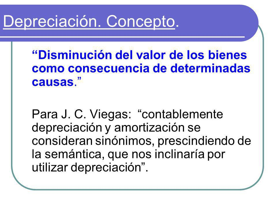Depreciación. Concepto.