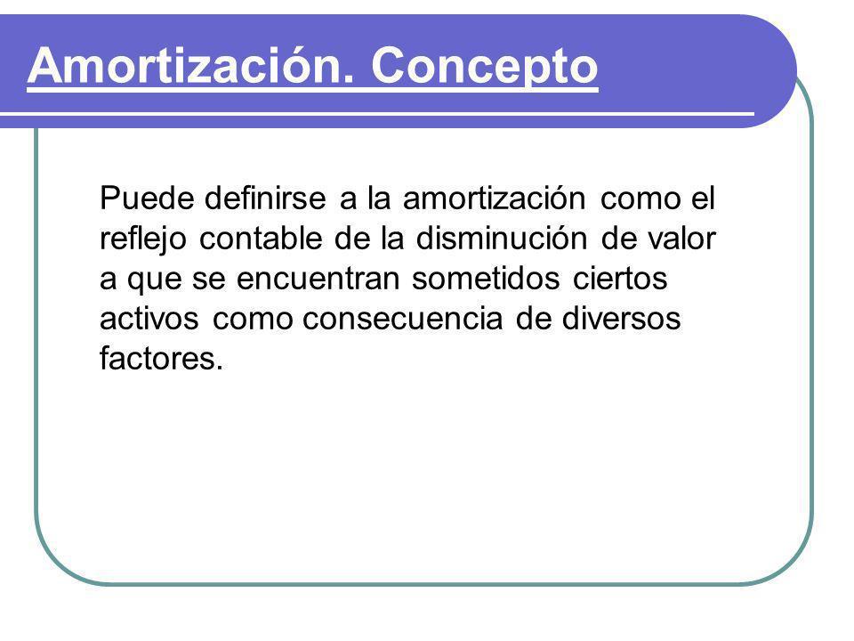 Amortización. Concepto