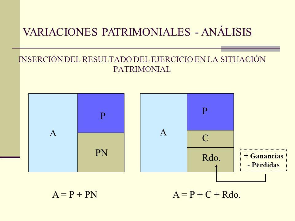 INSERCIÓN DEL RESULTADO DEL EJERCICIO EN LA SITUACIÓN PATRIMONIAL