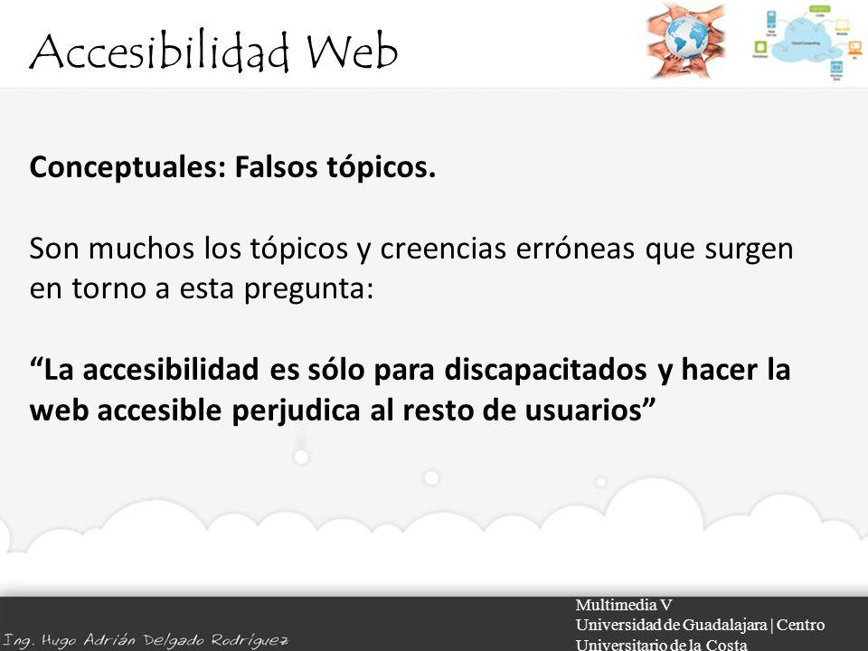 Accesibilidad Web Conceptuales: Falsos tópicos.