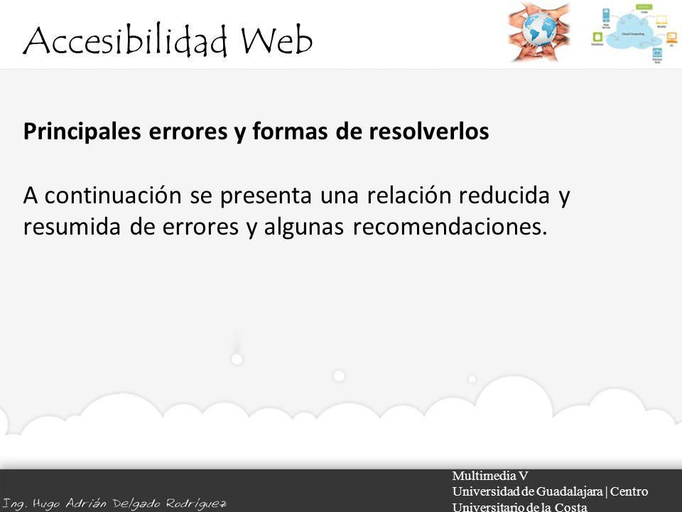 Accesibilidad Web Principales errores y formas de resolverlos