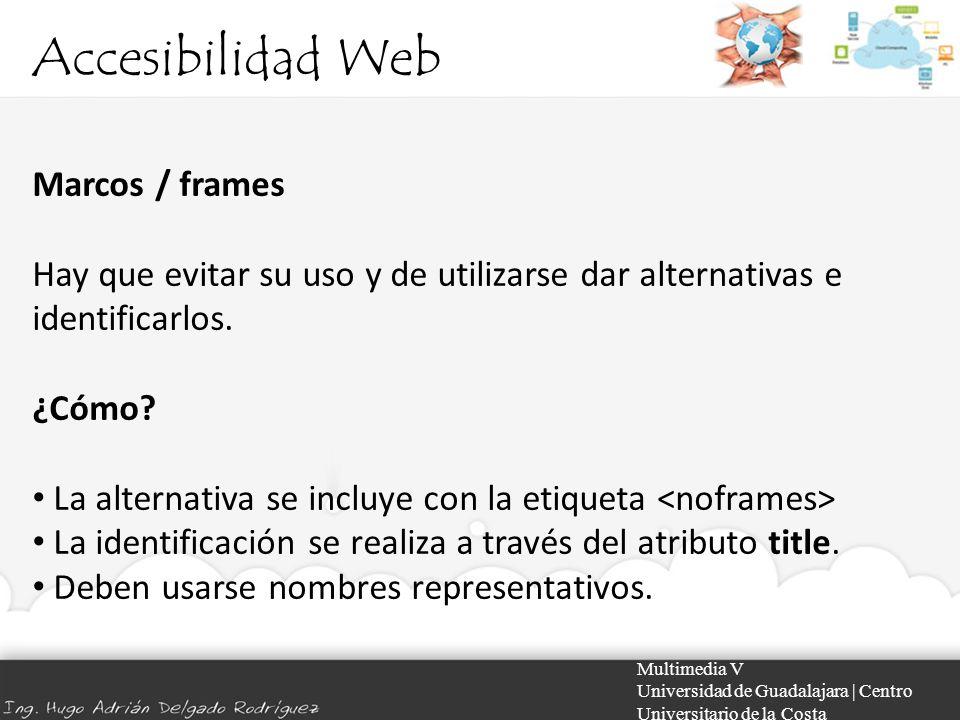 Accesibilidad Web Marcos / frames