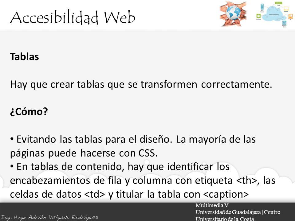 Accesibilidad Web Tablas