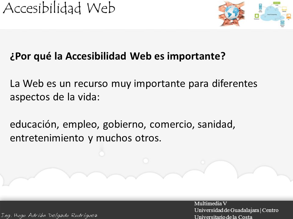 Accesibilidad Web ¿Por qué la Accesibilidad Web es importante
