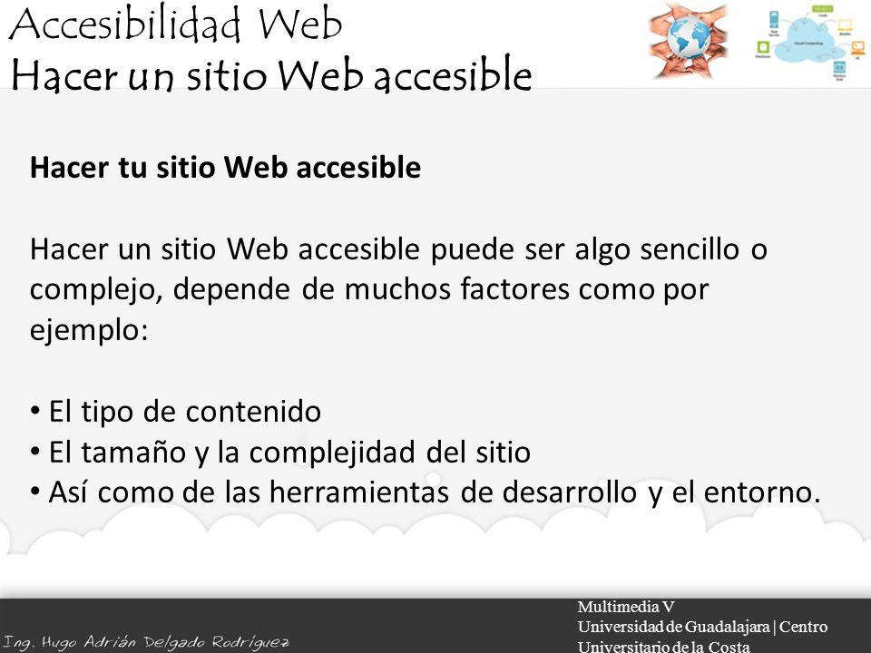 Hacer un sitio Web accesible