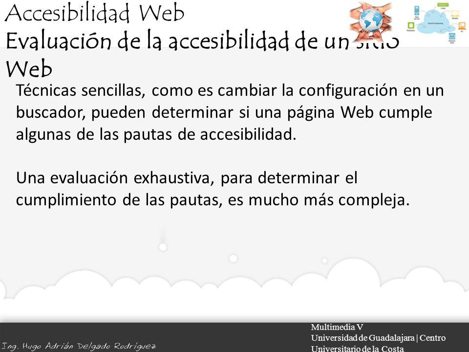 Evaluación de la accesibilidad de un sitio Web