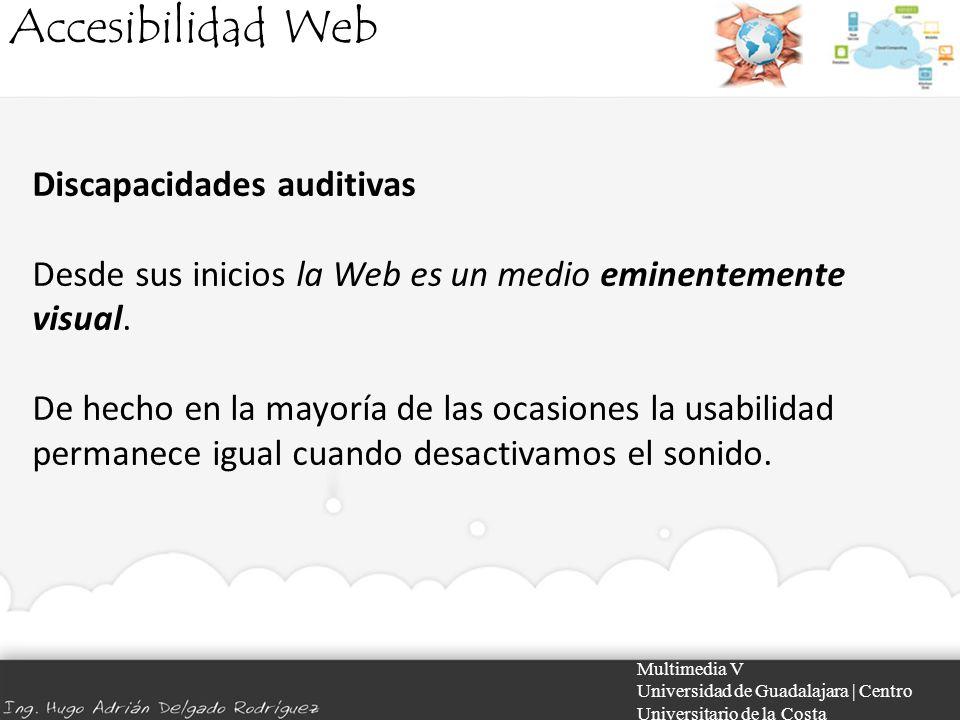 Accesibilidad Web Discapacidades auditivas