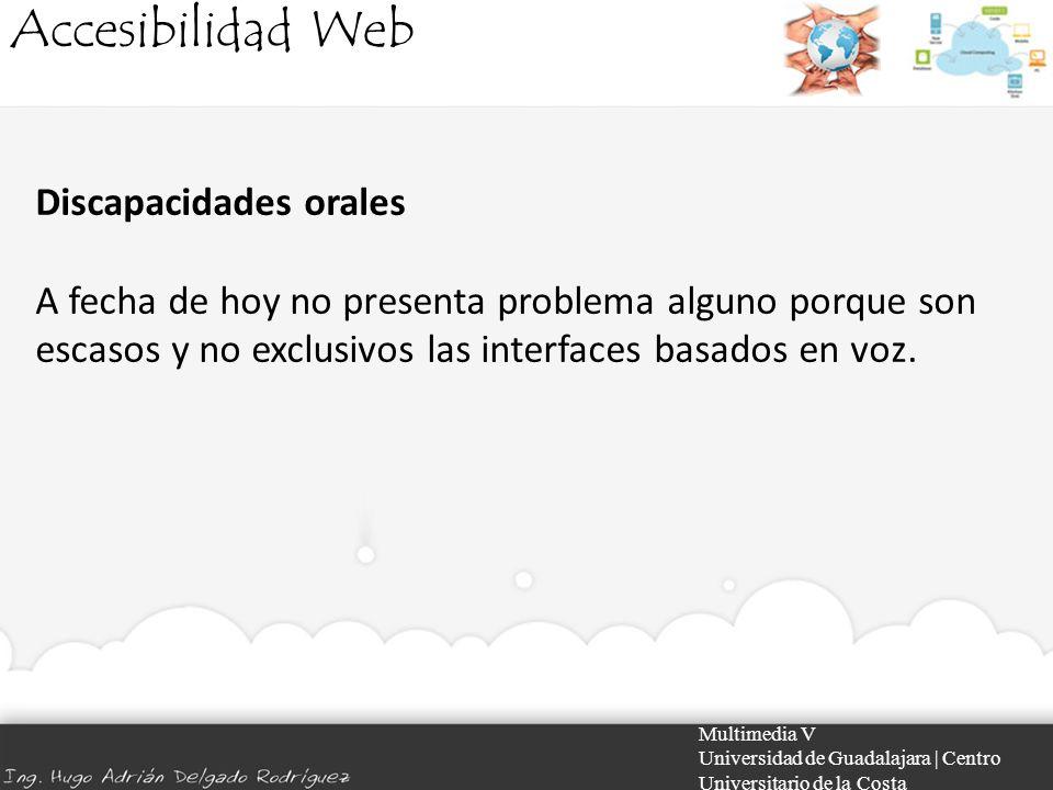 Accesibilidad Web Discapacidades orales