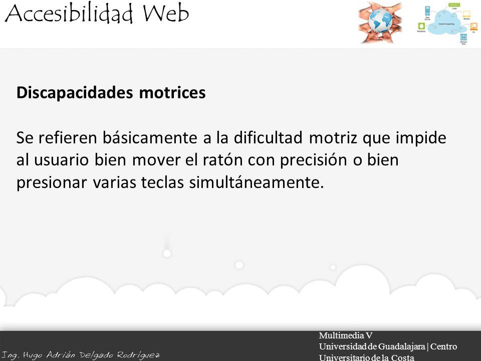 Accesibilidad Web Discapacidades motrices