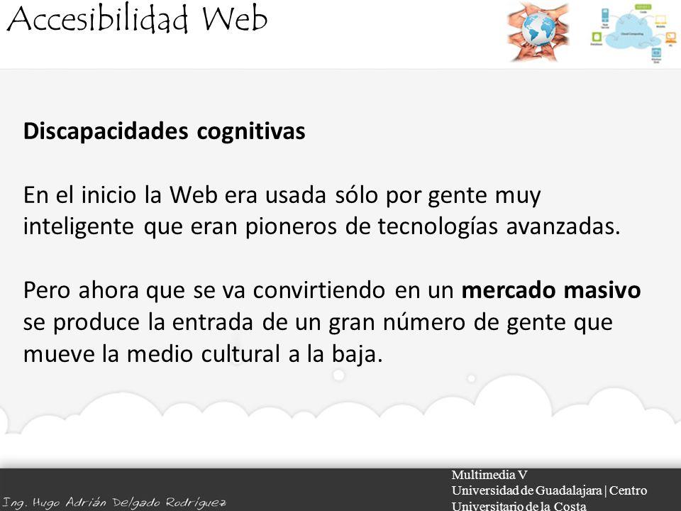 Accesibilidad Web Discapacidades cognitivas