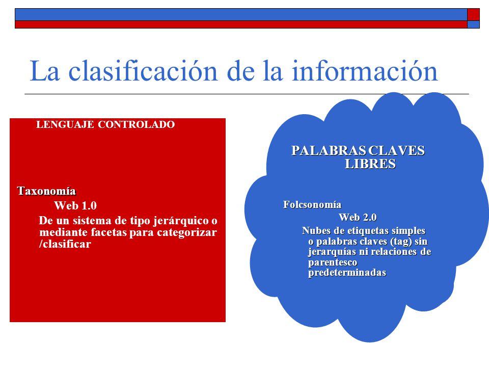 La clasificación de la información