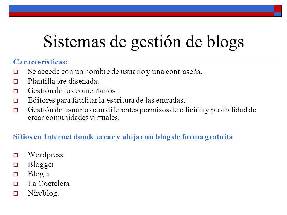 Sistemas de gestión de blogs