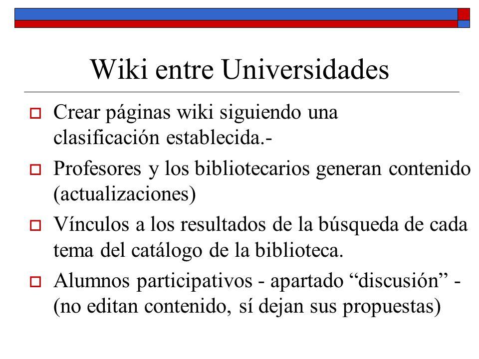 Wiki entre Universidades
