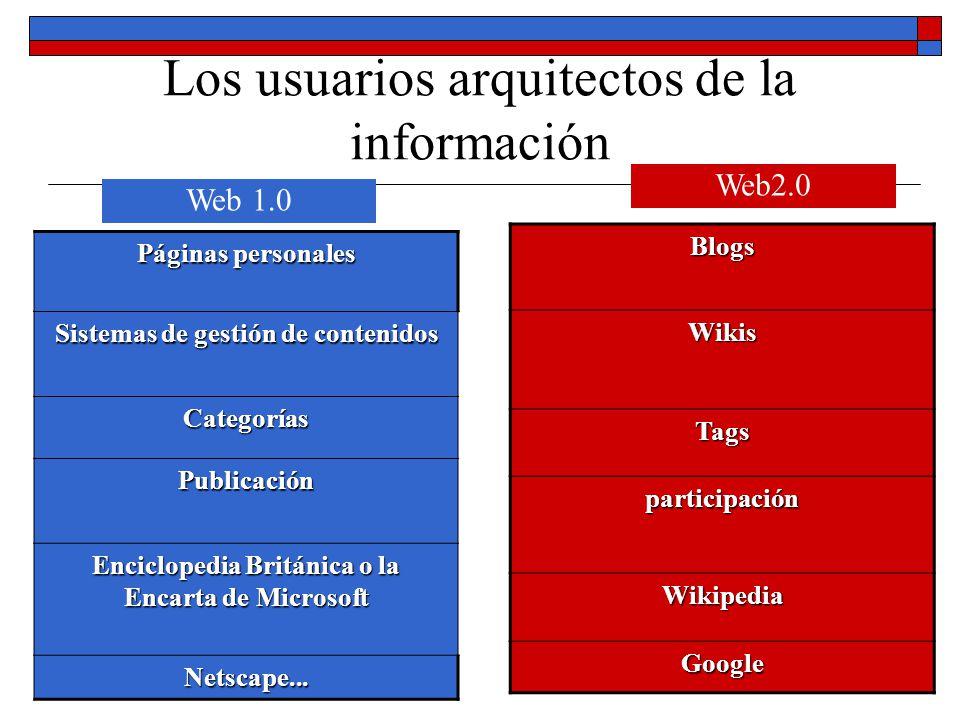 Los usuarios arquitectos de la información