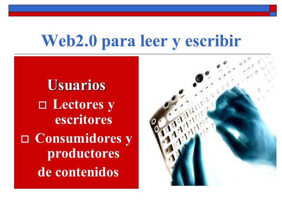 Web2.0 para leer y escribir