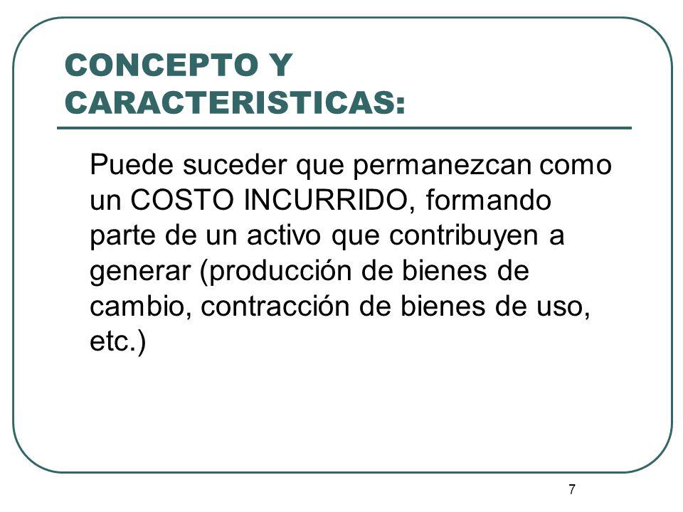 CONCEPTO Y CARACTERISTICAS: