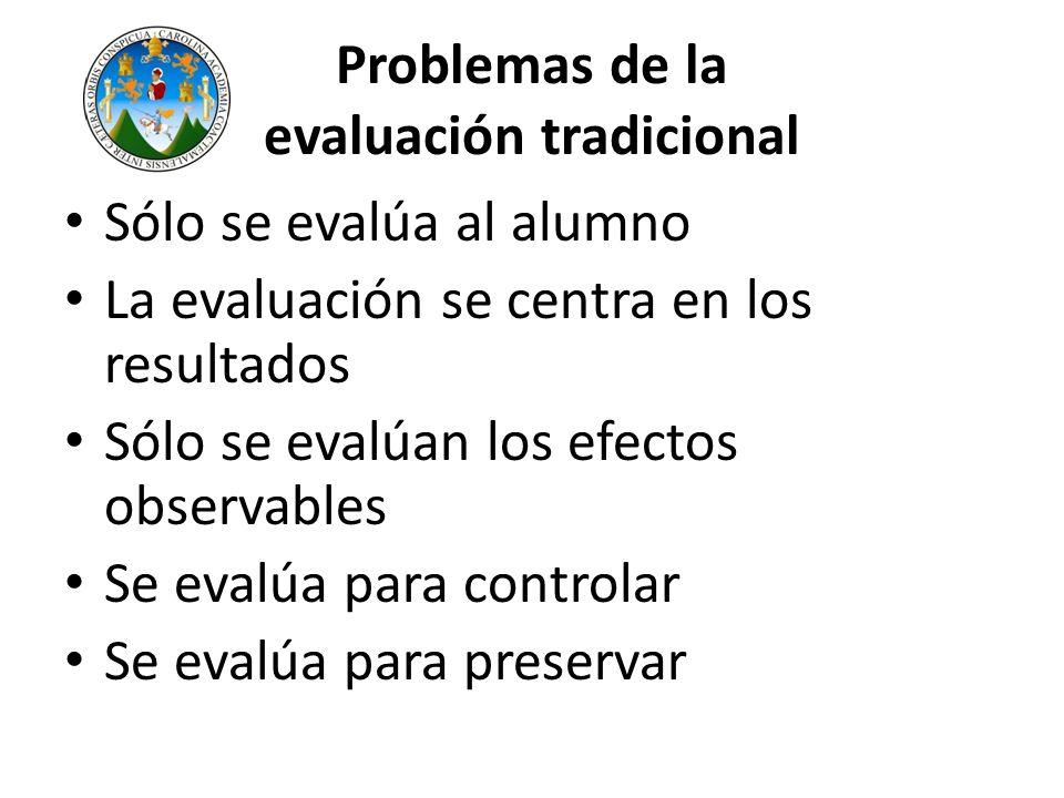 Problemas de la evaluación tradicional
