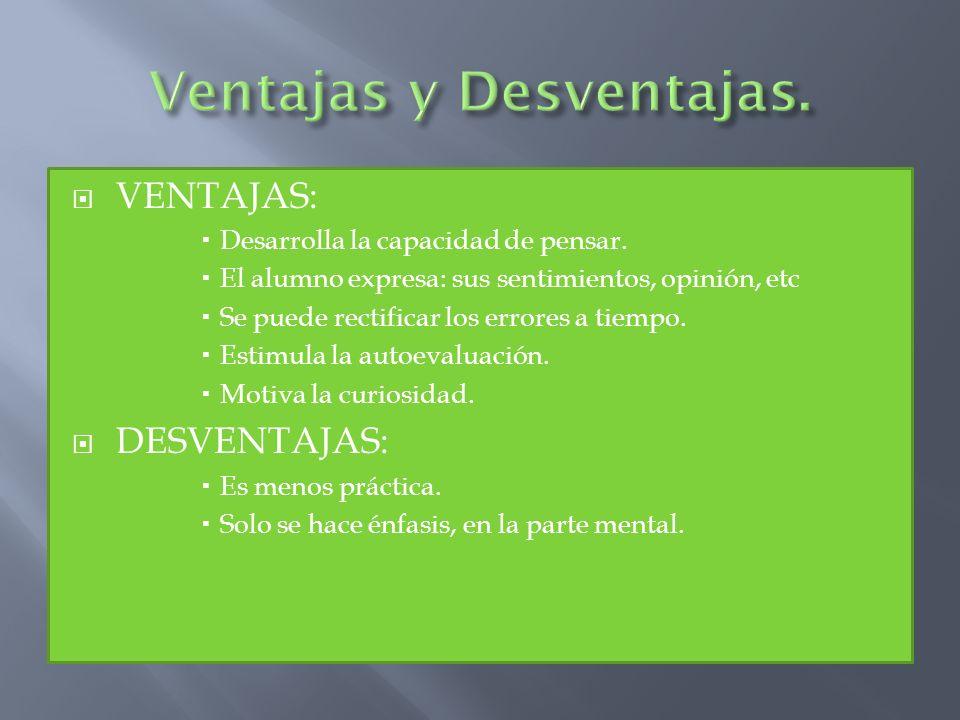 Ventajas y Desventajas.