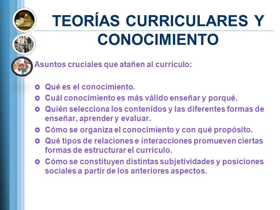 TEORÍAS CURRICULARES Y CONOCIMIENTO