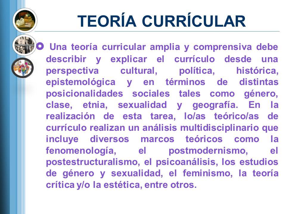 TEORÍA CURRÍCULAR