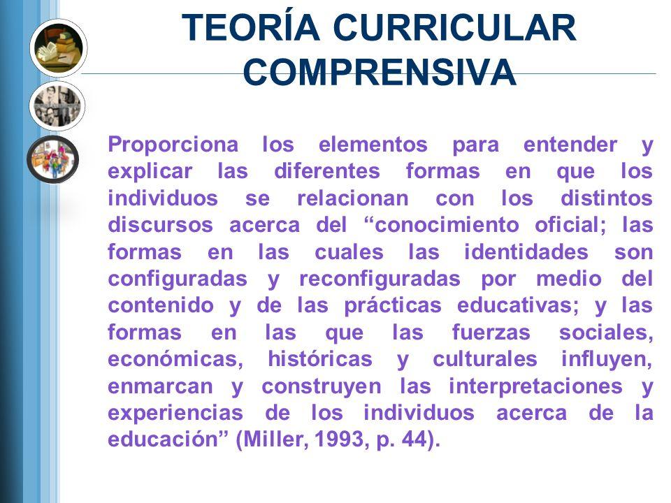 TEORÍA CURRICULAR COMPRENSIVA