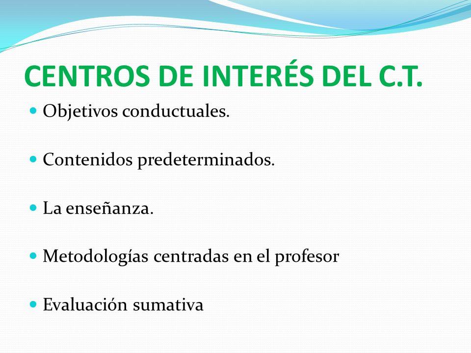 CENTROS DE INTERÉS DEL C.T.