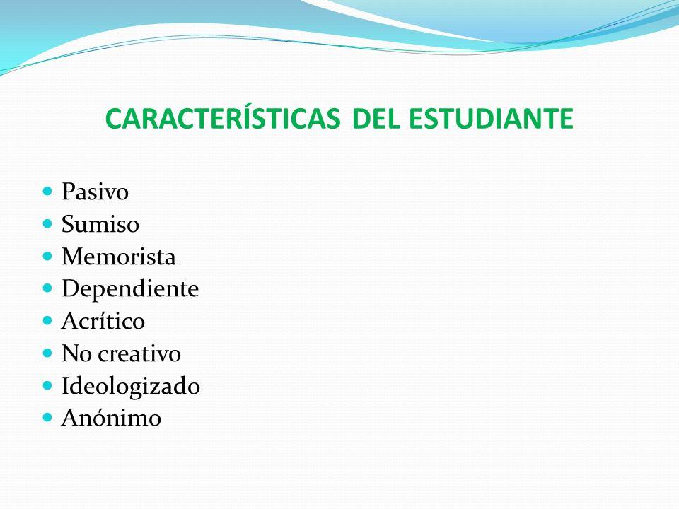 CARACTERÍSTICAS DEL ESTUDIANTE