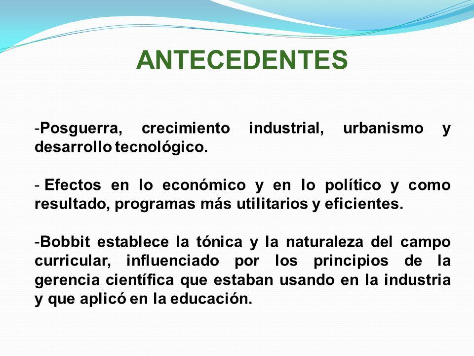 ANTECEDENTES Posguerra, crecimiento industrial, urbanismo y desarrollo tecnológico.