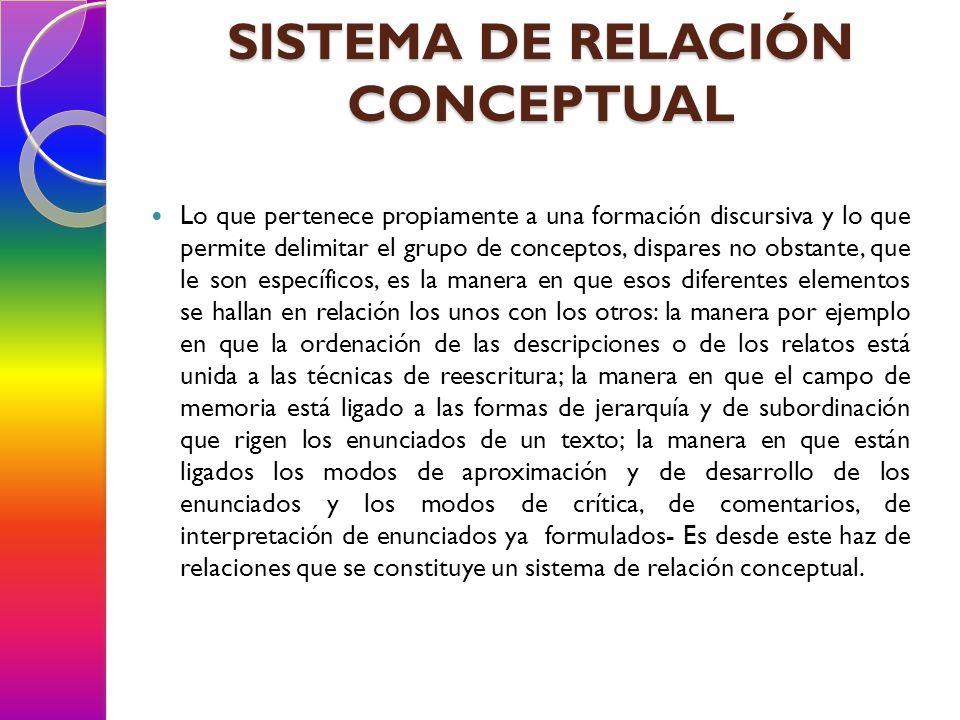 SISTEMA DE RELACIÓN CONCEPTUAL