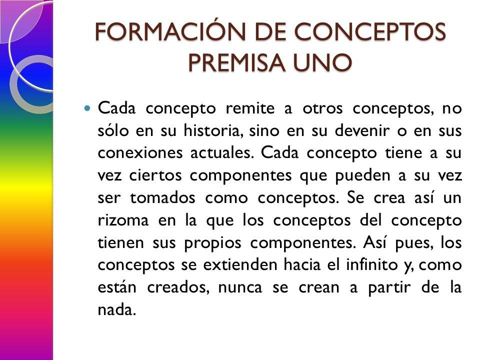 FORMACIÓN DE CONCEPTOS PREMISA UNO