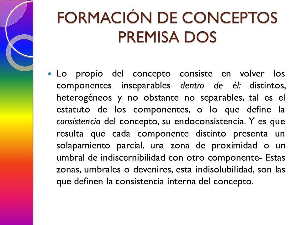FORMACIÓN DE CONCEPTOS PREMISA DOS