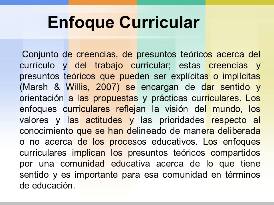 Enfoque Curricular