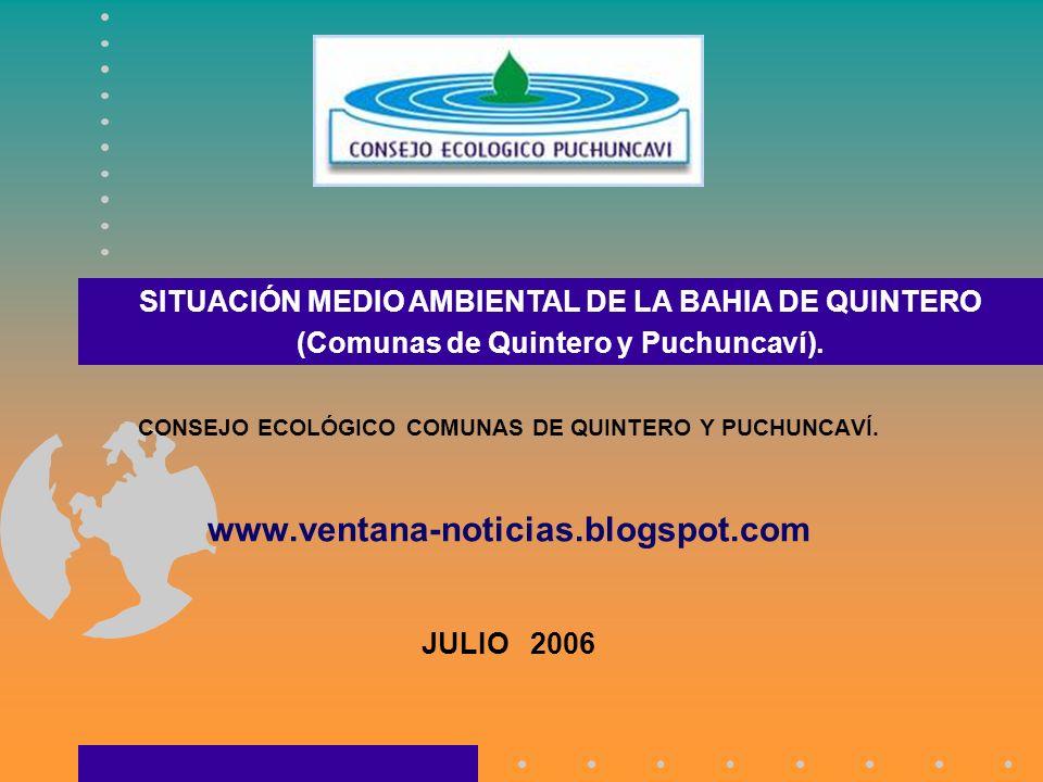 SITUACIÓN MEDIO AMBIENTAL DE LA BAHIA DE QUINTERO