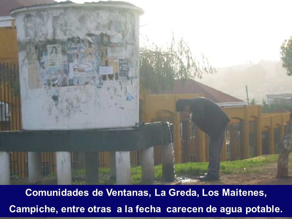 Comunidades de Ventanas, La Greda, Los Maitenes, Campiche, entre otras a la fecha carecen de agua potable.