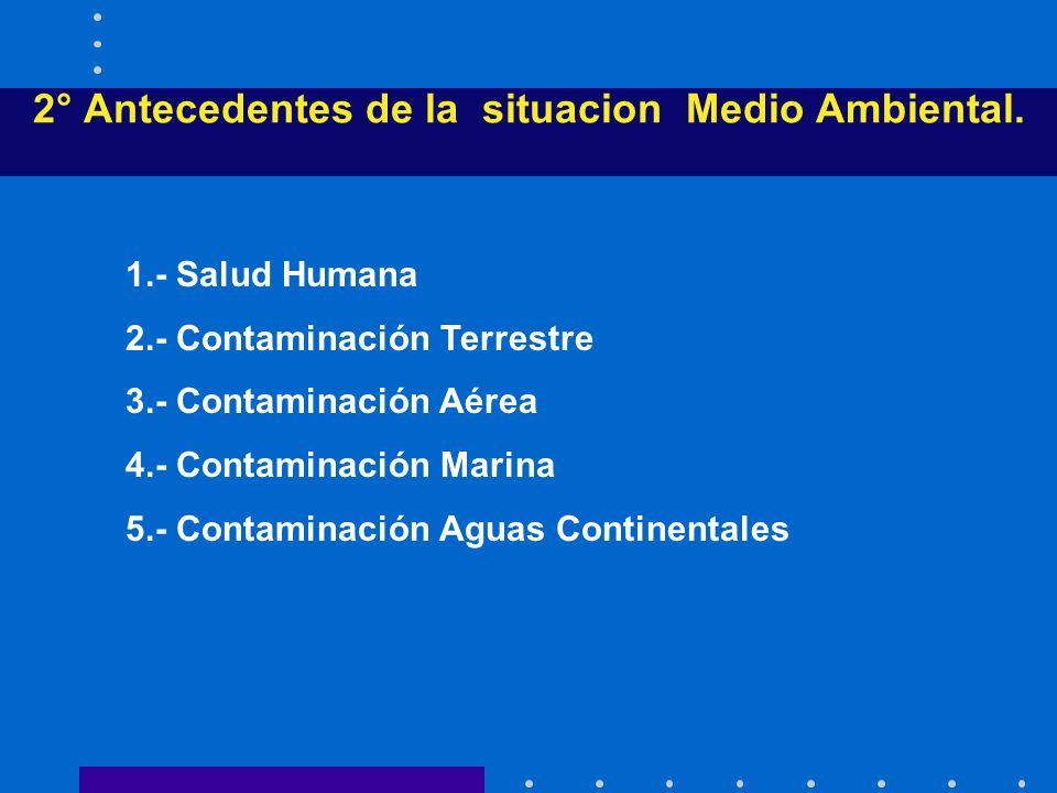 2° Antecedentes de la situacion Medio Ambiental.