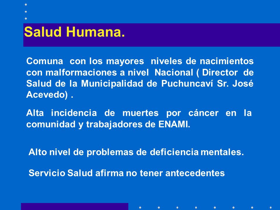 Salud Humana.
