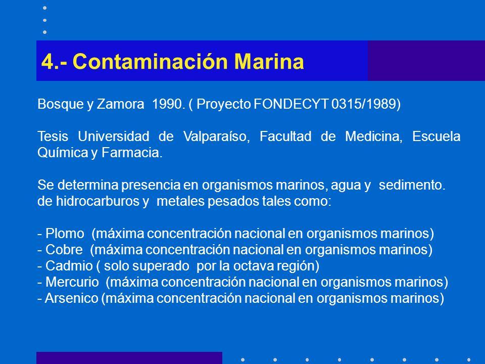 4.- Contaminación Marina