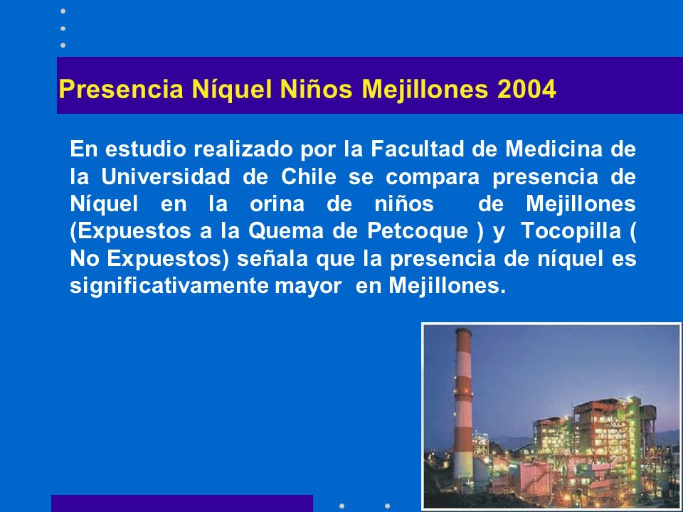 Presencia Níquel Niños Mejillones 2004