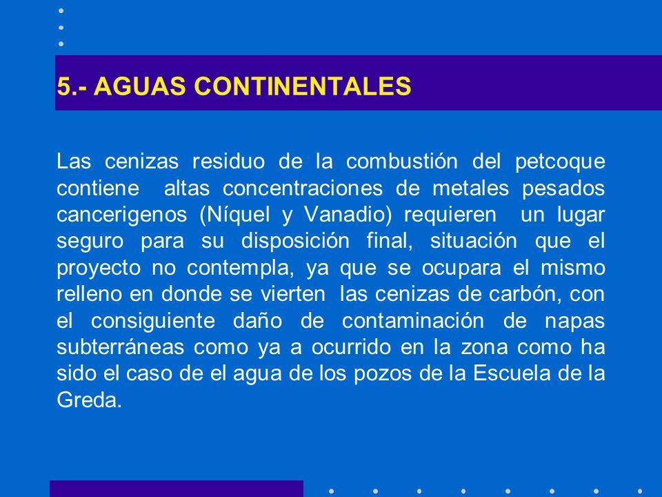 5.- AGUAS CONTINENTALES