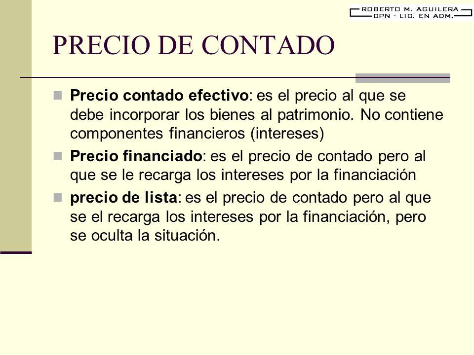 PRECIO DE CONTADO