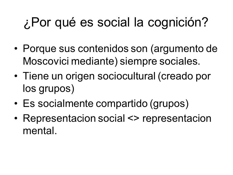 ¿Por qué es social la cognición