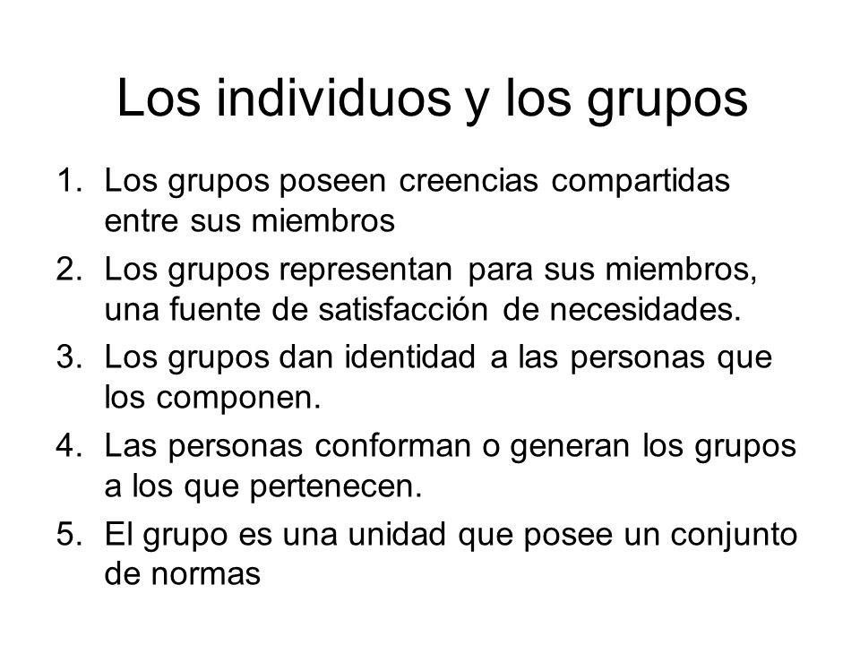 Los individuos y los grupos