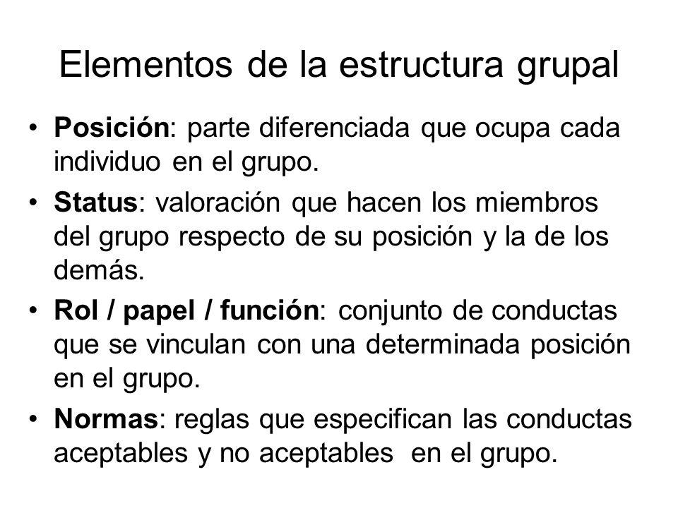 Elementos de la estructura grupal